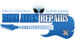 Blue Alien Guitar Repair Logo